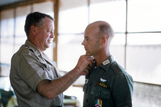 Jim Payne being Promoted to Major