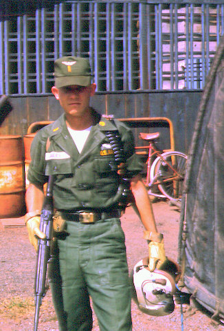 2nd Lt Bailey, suited up, Bien Hoa
