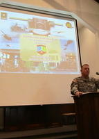 COL Stuart McRae, Garrison Commander welcoming the 73rd home to Fort Rucker