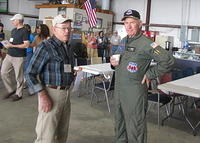 Dave Rogerson giving preflight instruction to Cliff McKeithan, the AAhF Pilot