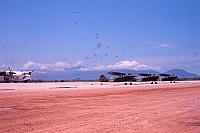 Flight Line-Danang-Hai Van Pass in background-C-119 background left
