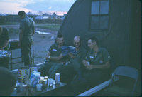 Cooking steaks for the crew chiefs, Bien Hoa